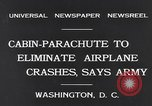 Image of Cabin Parachute Washington DC USA, 1931, second 8 stock footage video 65675040735