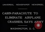 Image of Cabin Parachute Washington DC USA, 1931, second 10 stock footage video 65675040735