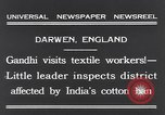 Image of Mohandas Karamchand Gandhi Darwen England, 1931, second 2 stock footage video 65675040736