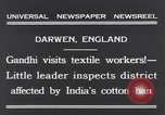 Image of Mohandas Karamchand Gandhi Darwen England, 1931, second 3 stock footage video 65675040736