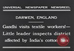 Image of Mohandas Karamchand Gandhi Darwen England, 1931, second 6 stock footage video 65675040736