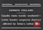 Image of Mohandas Karamchand Gandhi Darwen England, 1931, second 9 stock footage video 65675040736