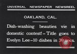 Image of dish washing contest Oakland California USA, 1931, second 1 stock footage video 65675040745