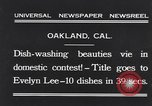 Image of dish washing contest Oakland California USA, 1931, second 2 stock footage video 65675040745