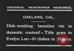 Image of dish washing contest Oakland California USA, 1931, second 3 stock footage video 65675040745