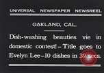 Image of dish washing contest Oakland California USA, 1931, second 4 stock footage video 65675040745
