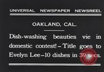Image of dish washing contest Oakland California USA, 1931, second 7 stock footage video 65675040745