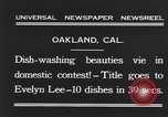 Image of dish washing contest Oakland California USA, 1931, second 8 stock footage video 65675040745