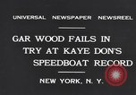 Image of Gar Wood New York United States USA, 1931, second 6 stock footage video 65675040746