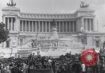 Image of allied soldiers in front of The Monument to Victor Emanuel II Italy, 1944, second 7 stock footage video 65675040763