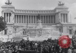 Image of allied soldiers in front of The Monument to Victor Emanuel II Italy, 1944, second 9 stock footage video 65675040763