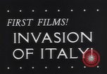 Image of Invasion of Italy Salerno Italy, 1943, second 2 stock footage video 65675040777