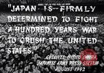 Image of Fervently patriotic Japanese people Pacific Theater, 1944, second 7 stock footage video 65675040811