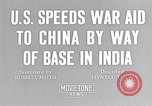 Image of US military aid to China through India in World War 2 India, 1942, second 4 stock footage video 65675040822