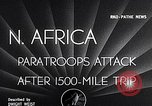 Image of US Army paratroopers jump from C-47 North Africa, 1942, second 4 stock footage video 65675040824