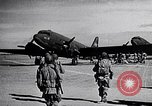 Image of US Army paratroopers jump from C-47 North Africa, 1942, second 6 stock footage video 65675040824