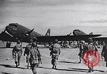 Image of US Army paratroopers jump from C-47 North Africa, 1942, second 8 stock footage video 65675040824