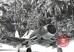 Image of U.S. F4U Corsair aircraft Vella Lavella field World War II New Georgia Solomon Islands, 1943, second 5 stock footage video 65675040873
