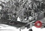 Image of U.S. F4U Corsair aircraft Vella Lavella field World War II New Georgia Solomon Islands, 1943, second 6 stock footage video 65675040873