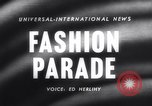 Image of Fashion parade Rome Italy, 1958, second 2 stock footage video 65675040886