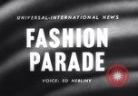 Image of Fashion parade Rome Italy, 1958, second 3 stock footage video 65675040886