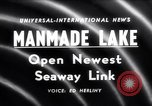 Image of Saint Lawrence Seaway completed New York United States USA, 1958, second 1 stock footage video 65675040889