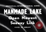 Image of Saint Lawrence Seaway completed New York United States USA, 1958, second 2 stock footage video 65675040889