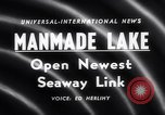 Image of Saint Lawrence Seaway completed New York United States USA, 1958, second 5 stock footage video 65675040889