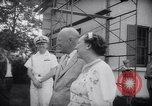 Image of President Eisenhower 42nd wedding anniversary Washington DC USA, 1958, second 8 stock footage video 65675040891