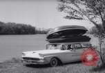 Image of station wagon Michigan USA, 1958, second 8 stock footage video 65675040893