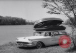 Image of station wagon Michigan USA, 1958, second 9 stock footage video 65675040893