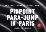 Image of Parachute competition Paris France, 1958, second 1 stock footage video 65675040894