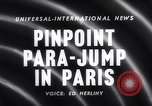 Image of Parachute competition Paris France, 1958, second 3 stock footage video 65675040894