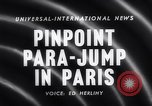 Image of Parachute competition Paris France, 1958, second 5 stock footage video 65675040894