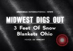 Image of snow Cleveland Ohio USA, 1962, second 3 stock footage video 65675040902