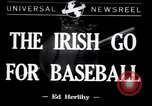Image of Baseball Belfast Ireland, 1942, second 1 stock footage video 65675040915