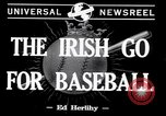Image of Baseball Belfast Ireland, 1942, second 2 stock footage video 65675040915