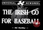 Image of Baseball Belfast Ireland, 1942, second 3 stock footage video 65675040915