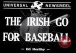 Image of Baseball Belfast Ireland, 1942, second 4 stock footage video 65675040915