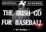Image of Baseball Belfast Ireland, 1942, second 5 stock footage video 65675040915
