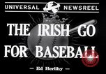 Image of Baseball Belfast Ireland, 1942, second 6 stock footage video 65675040915