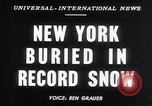Image of Blizzard of 1947 New York United States USA, 1947, second 1 stock footage video 65675040929