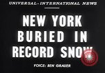 Image of Blizzard of 1947 New York United States USA, 1947, second 5 stock footage video 65675040929