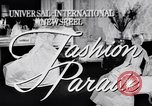 Image of Fashion Parade New York United States USA, 1956, second 1 stock footage video 65675040936