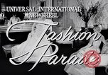 Image of Fashion Parade New York United States USA, 1956, second 2 stock footage video 65675040936