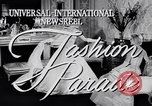 Image of Fashion Parade New York United States USA, 1956, second 5 stock footage video 65675040936