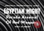 Image of Arms display Suez Egypt, 1956, second 3 stock footage video 65675040940