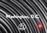 Image of President Eisenhower Washington DC USA, 1956, second 2 stock footage video 65675040947