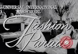 Image of Fashion Parade New York United States USA, 1956, second 2 stock footage video 65675040956