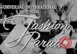 Image of Fashion Parade New York United States USA, 1956, second 4 stock footage video 65675040956